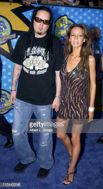 Jonathan Davis of Korn during 2003 MTV Movie Awards Arrivals at The Shrine Auditorium in Los Angeles California United States