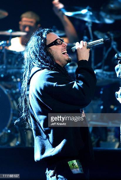 Jonathan Davis of Korn during Korn Rehearses for MTV Icon Tribute to Metallica at Universal Studios Stage 12 in Universal City CA United States
