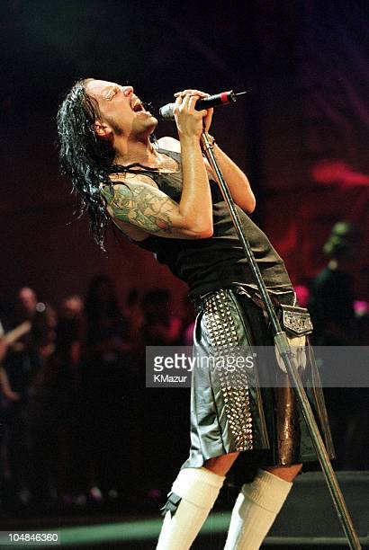 Jonathan Davis of Korn during Woodstock '99 in Saugerties New York in Saugerties New York United States