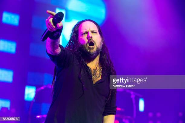 Jonathan Davis of Korn performs at Brixton Academy on August 23 2017 in London England