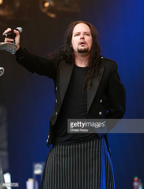 Jonathan Davis of Korn performs at day one of the Download Festival at Donington Park on June 12 2009 in Castle Donington England