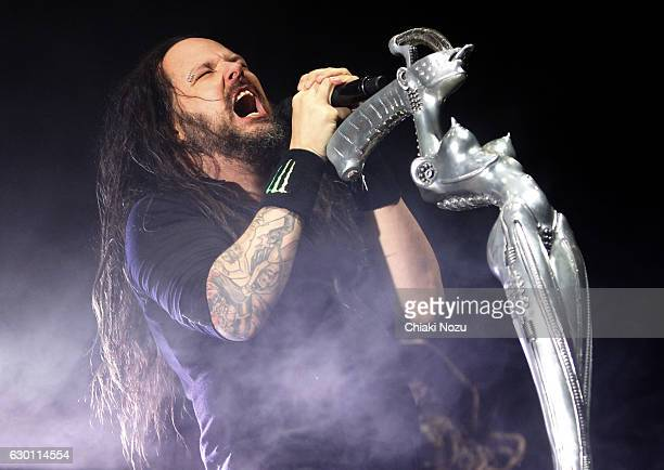Jonathan Davis of Korn performs at SSE Arena on December 16 2016 in London England