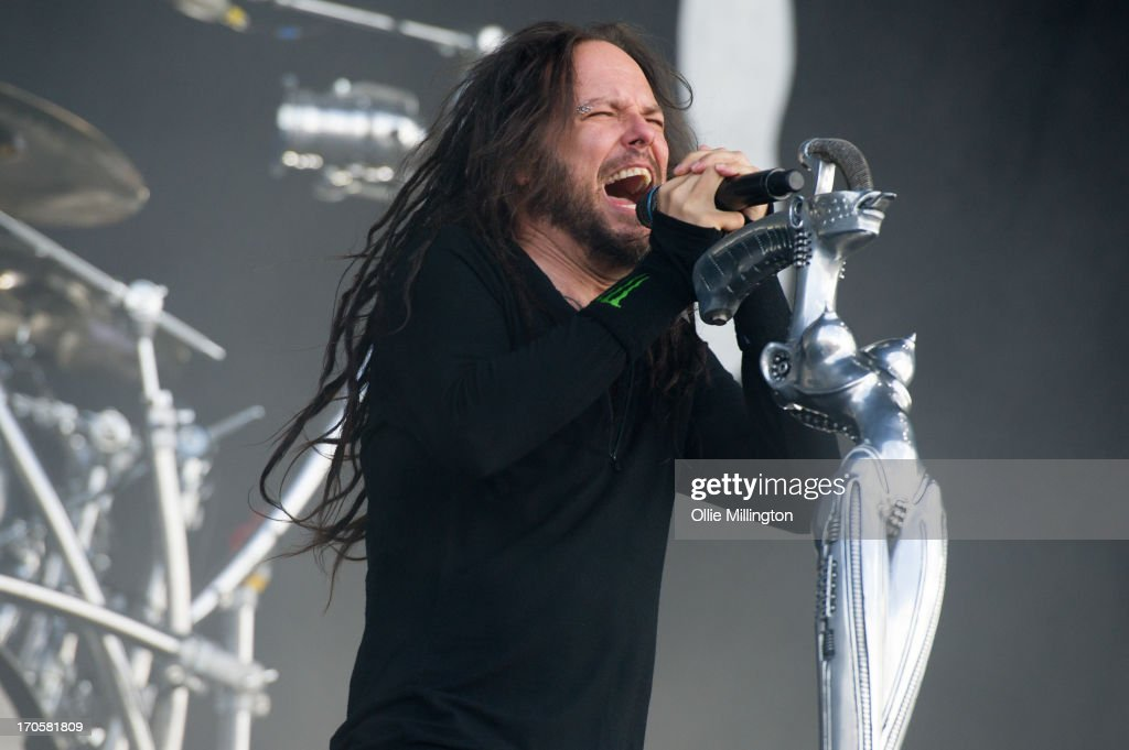 Jonathan Davis of Korn performs onstage at Day 1 of The Download Festival at Donnington Park on June 14, 2013 in Donnington, England.