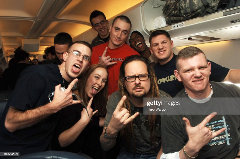 Korn Contest Winners and U.S. Soldiers Travel with the Band from London to New