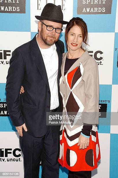 Jonathan Dayton and Valerie Faris attend FILM INDEPENDENT'S 2007 SPIRIT AWARDS hosted by IFC at Santa Monica Beach on February 24 2007 in Santa...