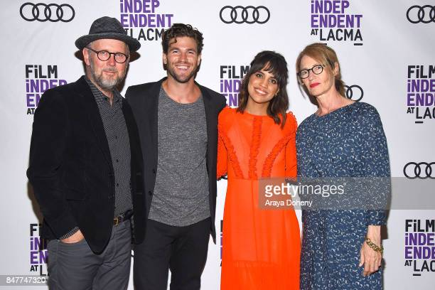 Jonathan Dayton Austin Stowell Natalie Morales and Valerie Faris attend the Film Independent at LACMA screening and QA of Battle Of The Sexes at...