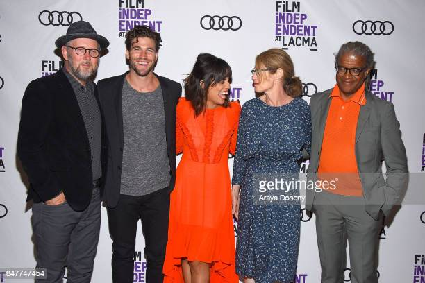 Jonathan Dayton Austin Stowell Natalie Morales Valerie Faris and Elvis Mitchell attend the Film Independent at LACMA screening and QA of Battle Of...
