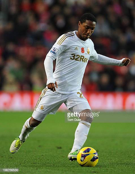 Jonathan De Guzman of Swansea City during the Barclays Premier League match between Southampton and Swansea City at St Mary's Stadium on November 10...
