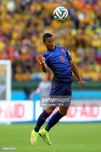 Jonathan de Guzman of the Netherlands in action during the 2014 FIFA World Cup Brazil Group B match between Australia and Netherlands at Estadio...