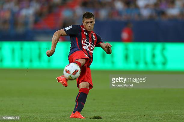 Jonathan Delaplace of Caen during the French Ligue 1 match between SM Caen an Bastia at Stade Michel D'Ornano on August 27 2016 in Caen France