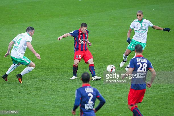 Jonathan Delaplace of Caen during the Ligue 1 match between SM Caen and AS Saint-Etienne at Stade Michel D'Ornano on October 23, 2016 in Caen, France.