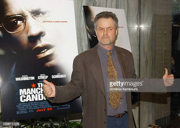 Jonathan Demme during 'Manchurian Candidate' New York Premiere Inside Arrivals at Beekman Theatre in New York City New York United States