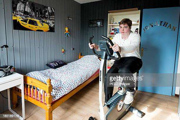 Jonathan Destin 19 years poses at his home after his accident for six years Jonathan has been harassed and bullied at school desperate he tried to...