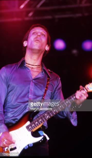 Jonathan Donahue, Mercury Rev vocalist performs on stage at Glastonbury Festival 1999.