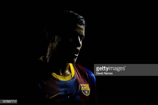 Jonathan dos Santos of FC Barcelona B looks on during the La Liga Adelante match between FC Barcelona B and Girona at Mini Estadi on January 8 2011...
