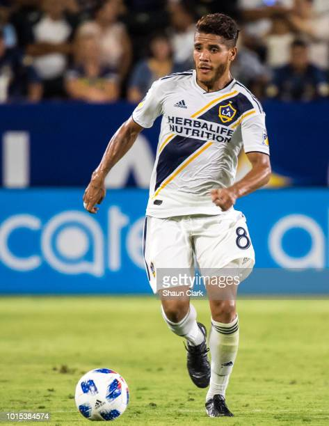 Jonathan dos Santos of Los Angeles Galaxy during the Los Angeles Galaxy's MLS match against Minnesota United at the StubHub Center on August 11 2018...
