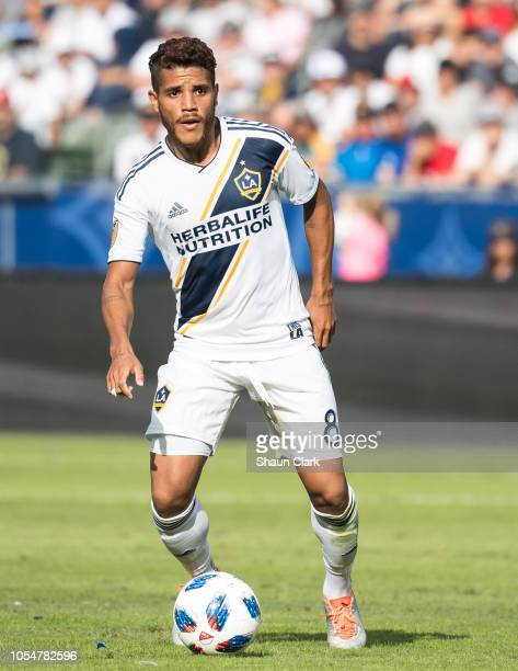 Jonathan dos Santos of Los Angeles Galaxy during the Los Angeles Galaxy's MLS match against Houston Dynamo at the StubHub Center on October 28 2018...