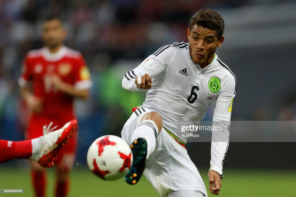Jonathan Dos Santos of Mexico national team during the Group A - FIFA Confederations Cup Russia 2017 match between Russia and Mexico at Kazan Arena on June 24, 2017 in Kazan, Russia.