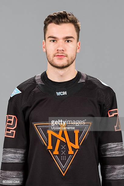 Jonathan Drouin of Team North America poses for his official World Cup of Hockey head shot at the Bell Centre on September 7 2016 in Montreal Quebec...