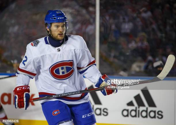 Jonathan Drouin of the Montreal Canadiens looks on during the 2017 Scotiabank NHL100 Classic against the Ottawa Senators at Lansdowne Park on...
