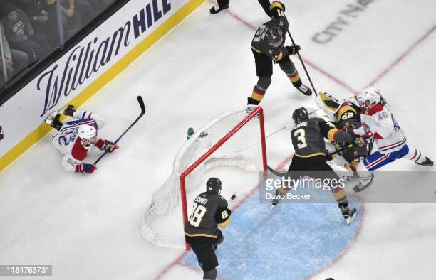 Jonathan Drouin of the Montreal Canadiens scores a goal during the second period against the Vegas Golden Knights at TMobile Arena on October 31 2019...