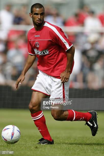 Jonathan Fortune of Charlton Athletic runs with the ball during the Pre-Season Friendly match between Welling United and Charlton Athletic held on...