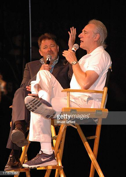 Jonathan Frakes and Brent Spiner during The Fifth Annual Star Trek Convention Celebrating the 40th Anniversary of the TV Series at Las Vegas Hilton...