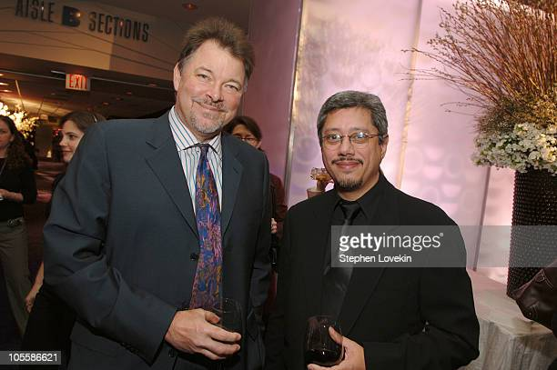 Jonathan Frakes and Dean Devlin during 2006/2007 TBS and TNT UpFront Green Room at Theatre at Madison Square Garden in New York City New York United...