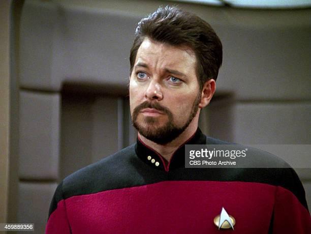 Jonathan Frakes as Commander William T Riker in the STAR TREK THE NEXT GENERATION episode The Hunted Season 3 episode 11 Original air date January 8...