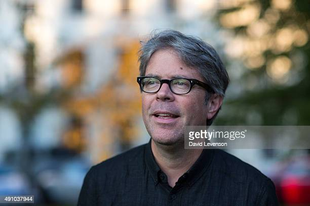 Jonathan Franzen bestselling American author of Freedom and The Corrections at the Cheltenham Literature Festival on October 2 2015 in Cheltenham...
