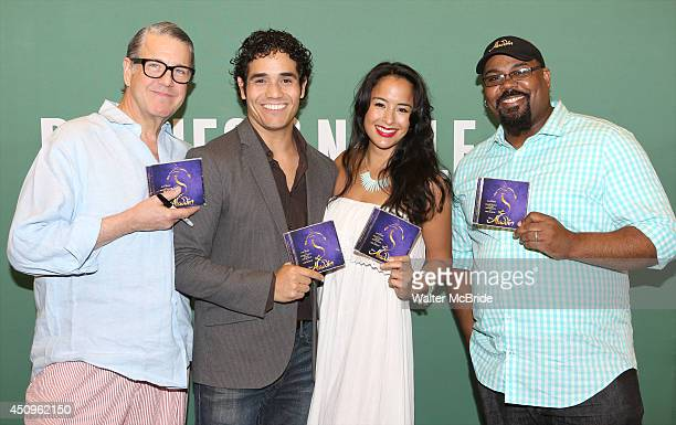 Jonathan Freeman Adam Jacobs Courtney Reed and James Monroe Iglehart attend the 'Aladdin' Broadway Cast CD Signing at Barnes Noble Citigroup Center...