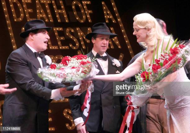 Jonathan Freeman Richard Kind Alan Ruck and Angie Schworer take their first curtain call