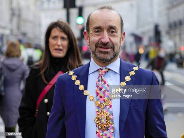 Jonathan Glanz Lord Mayor of Westminster at Westminster City Council strolling in Regent Street which is set to be pedestrianised in the lead up to...