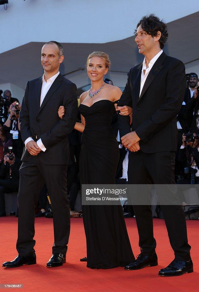 Jonathan Glazer, Scarlett Johansson and James Wilson attend 'Under The Skin' Premiere during the 70th Venice International Film Festival at Sala Grande on September 3, 2013 in Venice, Italy.