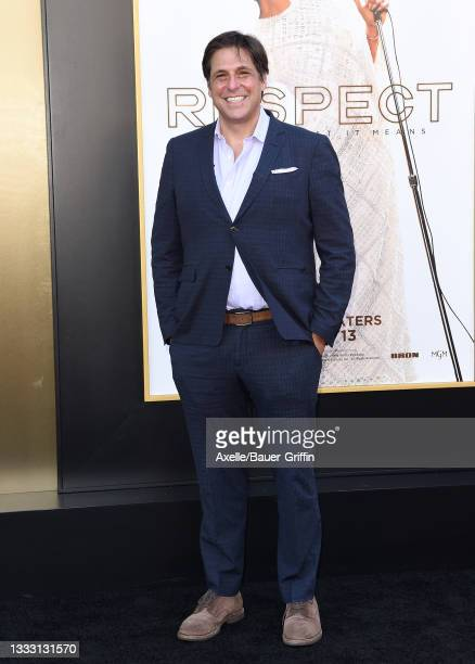 """Jonathan Glickman attends the Los Angeles Premiere of MGM's """"Respect"""" at Regency Village Theatre on August 08, 2021 in Los Angeles, California."""