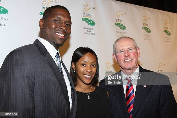 Jonathan Goff of the New York Giants wife Sara Goff andCoach Tom Coughlin attends the 5th Annual Tom Coughlin Jay Fund's Champions for Children Gala...