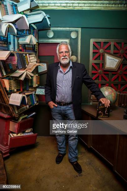 Jonathan Goldsmith poses for a photo before The Most Interesting Man In The World's Book Signing Event at The Last Bookstore on June 23 2017 in Los...