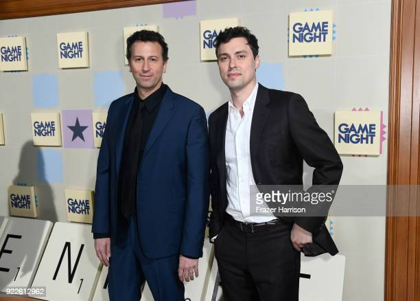 Jonathan Goldstein and John Francis Daley attend the premiere of New Line Cinema and Warner Bros Pictures' Game Night at TCL Chinese Theatre on...
