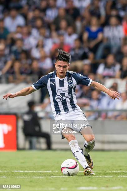 Jonathan Gonzalez of Monterrey drives the ball during the 6th round match between Monterrey and Toluca as part of the Torneo Apertura 2017 Liga MX at...