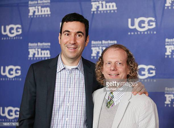 Jonathan Gordon and Bruce Cohen arrive at 28th Santa Barbara Film Festival Jennifer Lawrence Outstanding Performer of The Year Award ceremony held at...