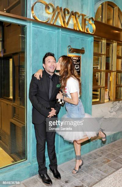 Jonathan Grahm and Kelly Wearstler celebrate the Compartes Chocolatier Century City Flagship Store Opening on September 27 2017 in Los Angeles...