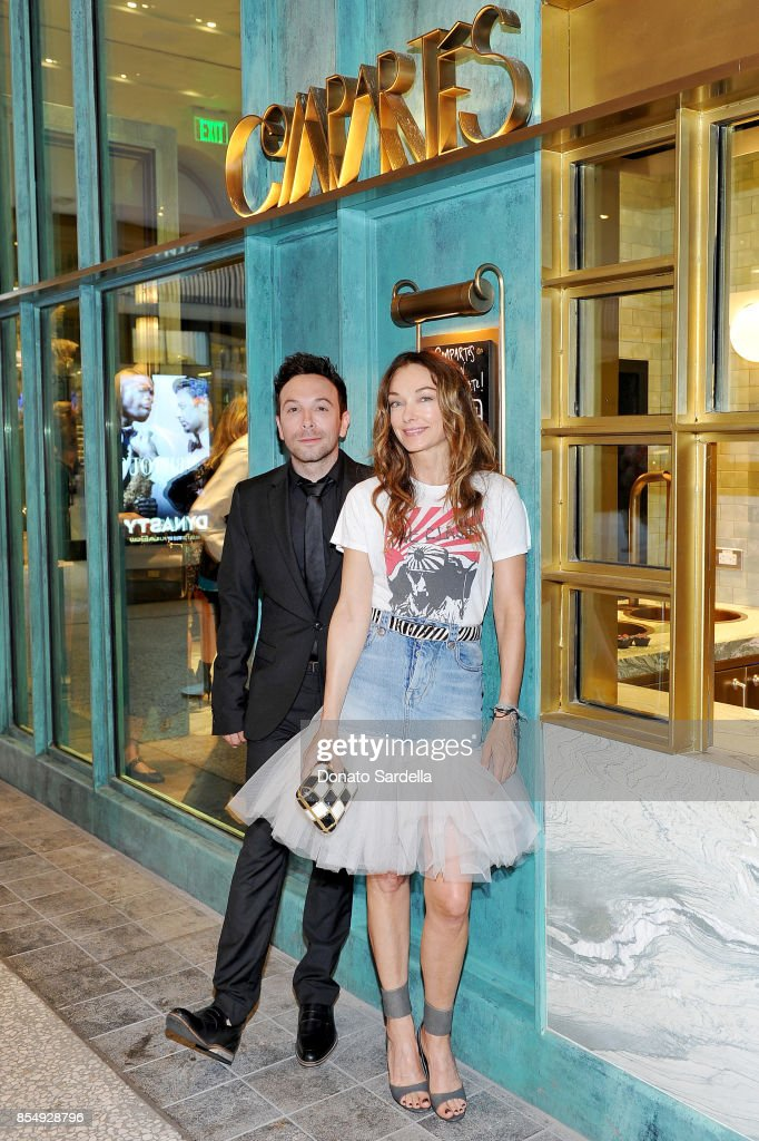 Jonathan Grahm (L) and Kelly Wearstler celebrate the Compartes Chocolatier Century City Flagship Store Opening on September 27, 2017 in Los Angeles, California.
