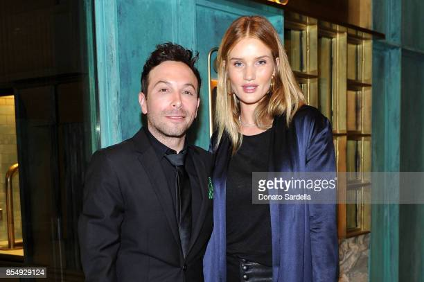 Jonathan Grahm and Rosie HuntingtonWhiteley celebrate the Compartes Chocolatier Century City Flagship Store Opening on September 27 2017 in Los...