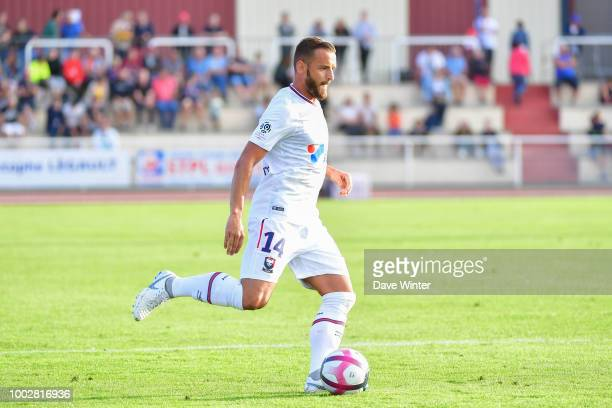 Jonathan Grandit of Caen during the preseason friendly match for the Trophee des Normands between Caen and Le Havre on July 20 2018 in Vire France