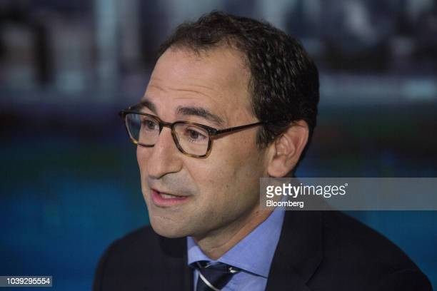 Jonathan Gray, president of Blackstone Group LP, speaks during a Bloomberg Television interview in New York, U.S., on Monday, Sept. 24, 2018....