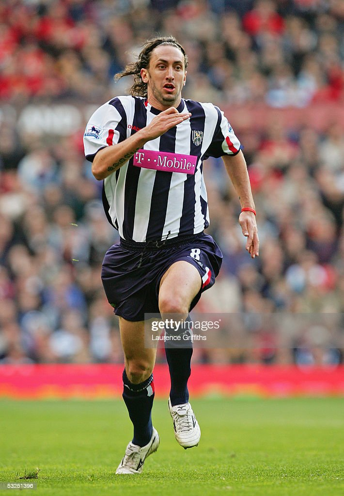 Jonathan Greening of West Bromwich Albion in action during the FA Barclays Premiership match between Manchester United and West Bromwich Albion at Old Trafford on May 7, 2005 in Manchester, England.