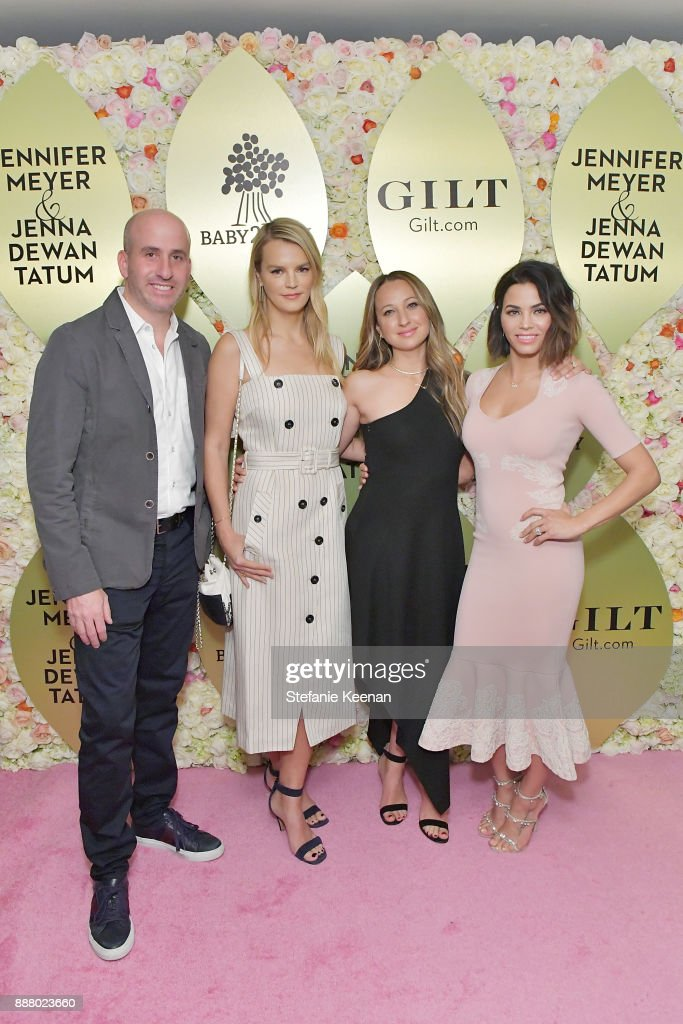 Jonathan Greller, Kelly Sawyer Patricof, Jennifer Meyer and Jenna Dewan Tatum attend Gilt.com, Jennifer Meyer & Jenna Dewan Tatum Launch Exclusive Jewelry Collection Benefitting Baby2Baby at Sunset Tower Hotel on December 7, 2017 in West Hollywood, California.
