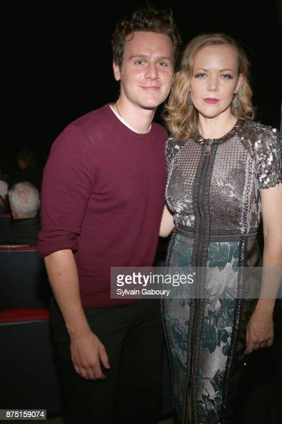 Jonathan Groff and Emily Bergl attend Calvin Klein and The Cinema Society host a screening of Sony Pictures Classics' 'Call Me By Your Name' on...