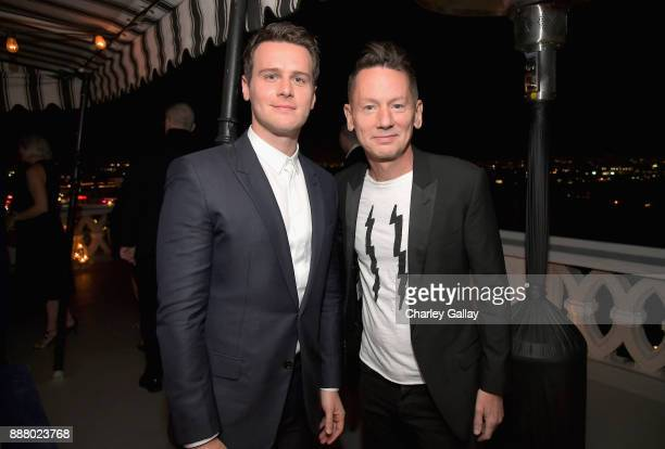 Jonathan Groff and GQ Magazine EditorinChief Jim Nelson attend GQ and Dior Homme private dinner in celebration of The 2017 GQ Men Of The Year Party...