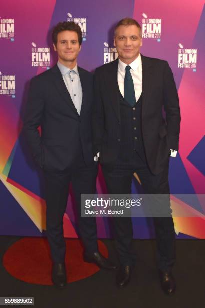 Jonathan Groff and Holt McCallany attend the LFF Connects Special Presentation 'Mindhunter' European Premiere during the 61st BFI London Film...
